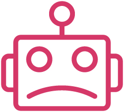 Flat Icon Sad Robot