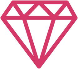 Flat Icon Diamond